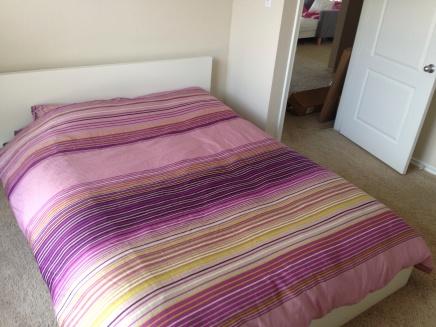 Nu nog master bed, in het nieuwe huis het logeerbed