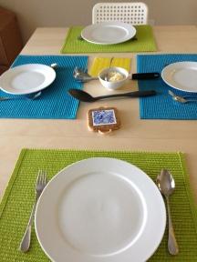 Voorlopige eettafel