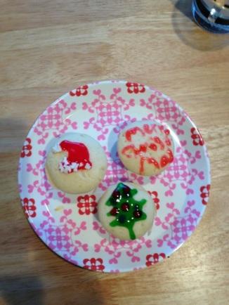 Cupcakes versierd door Tine.