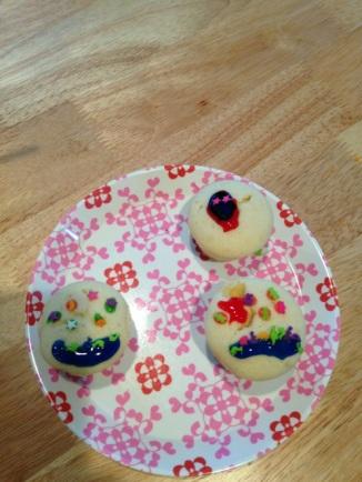 Cupcakes versierd door Hanne.
