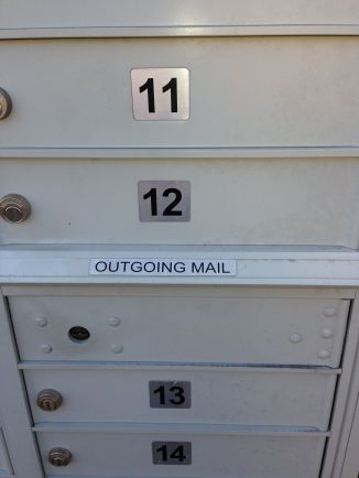 Outgoing mail...
