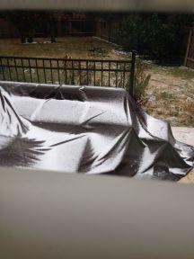 Beetje meer sneeuw in de tuin...