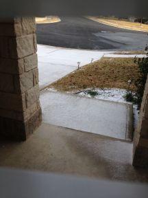 Sneeuw op de oprit...