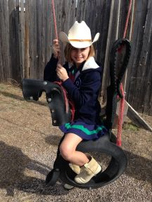 Cowgirl Tine and her horse!
