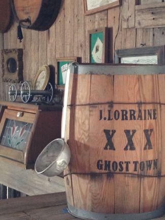 Inside the saloon...