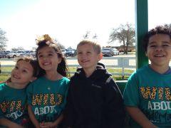 Ons groepje: Hanne, Madelyn, Dylan en Aiden