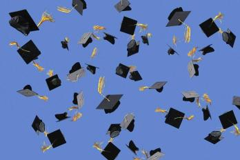 Caps and tassels up in the air!