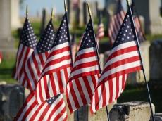 American flag...