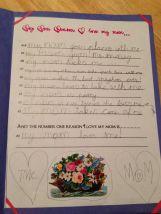 Tine's zelfgeschreven tekst!