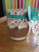 Inhoud van onze pot: suiker, Nesquick-poeder, marshmallows!