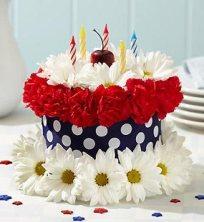 Cake or flower arrangement?