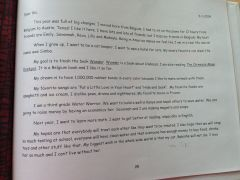 Tine's brief aan haarzelf...