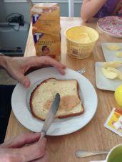 Melkbrood met bruine suiker!