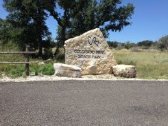 Entrance to Colorado Bend State Park.