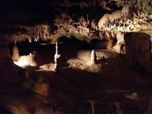 In the caves...