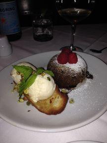Chocolate lava cake...