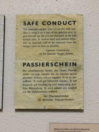 Safe conduct...