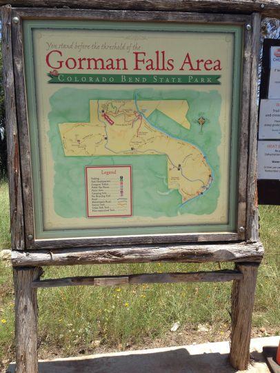 Map of the Gorman Falls...