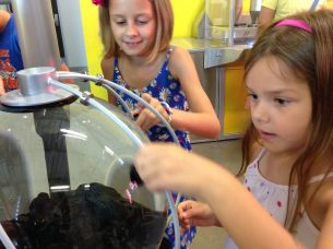 Experiment met ferrofluid...