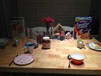 Ontbijt staat al klaar voor morgenvroeg!