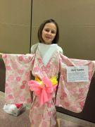 Tine in kimono