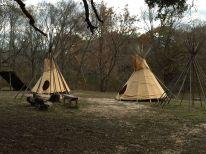 Een indianendorp...