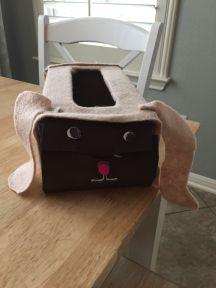 Hanne's valentijnsdoos... (door Tine versierd)