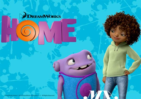 "The movie ""Home"" met Riri en JLO als stemmen..."