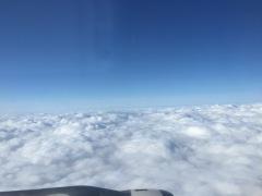 Hoog boven de wolken...