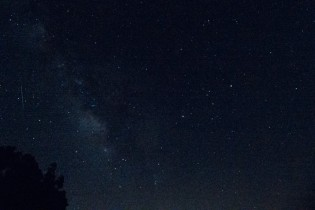 The Milky Way! Can you find the shooting star?