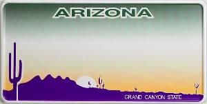 Nummerplaat van Arizona
