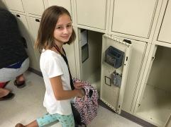 Her own locker!