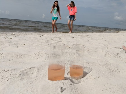 Beach aperitif